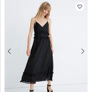Shimmer Ruffle Cami Dress, size 2, NEVER WORN